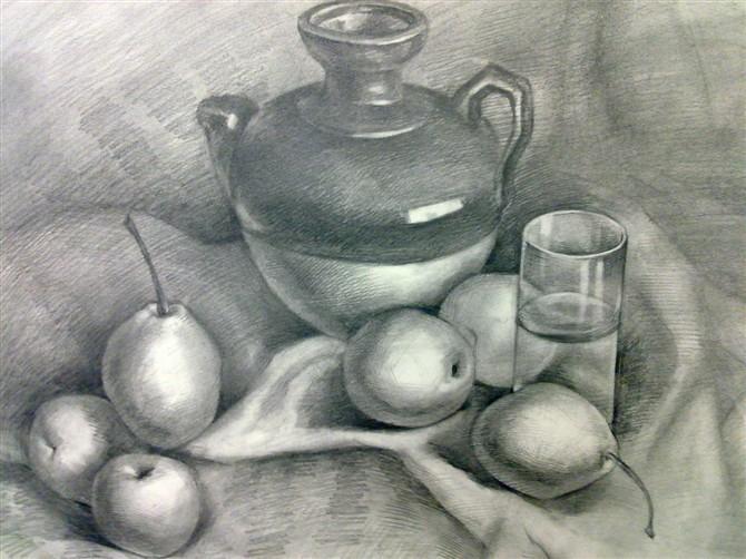 素描水果图片步骤简单
